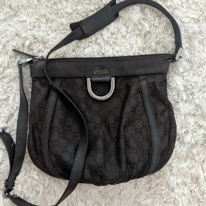 Gucci signature brown crossbody bag